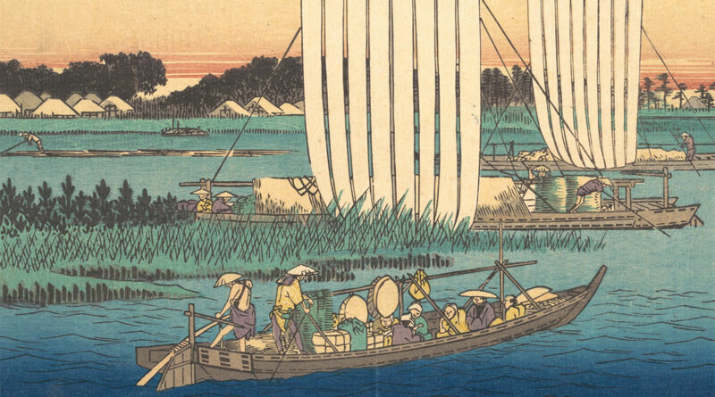 Boats Returning to Gyotoku - Hiroshige