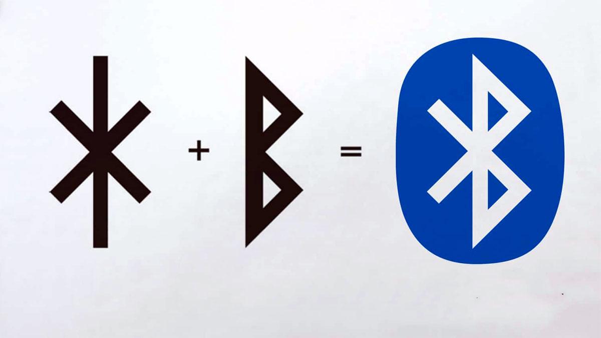 Il logo Blootooth è la composizione di due rune nordiche: H, B