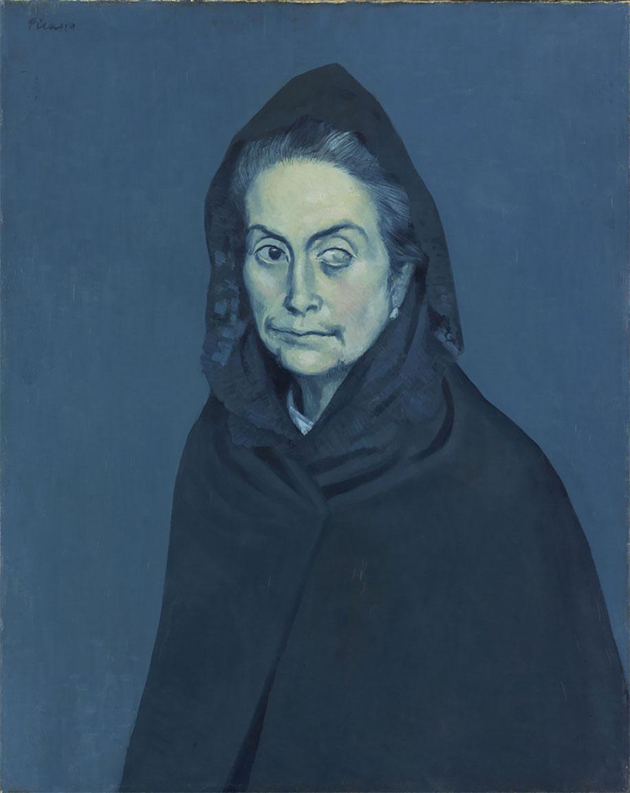 La Celestina (1904) • La Célestine (La femme à la taie) • Olio su tela • Dimensioni: 74,5 x 58,5 cm • Ubicazione: Musée National Picasso, Parigi