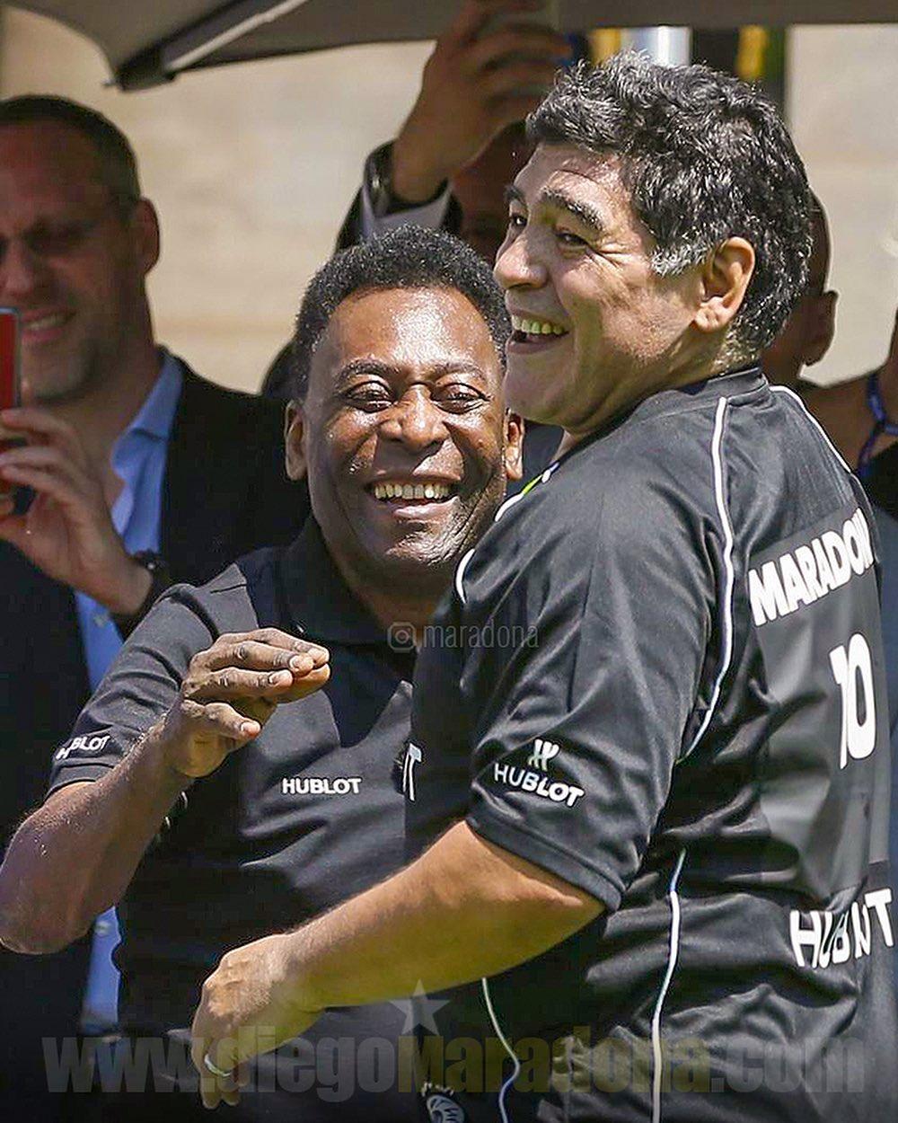 Pelé con Maradona