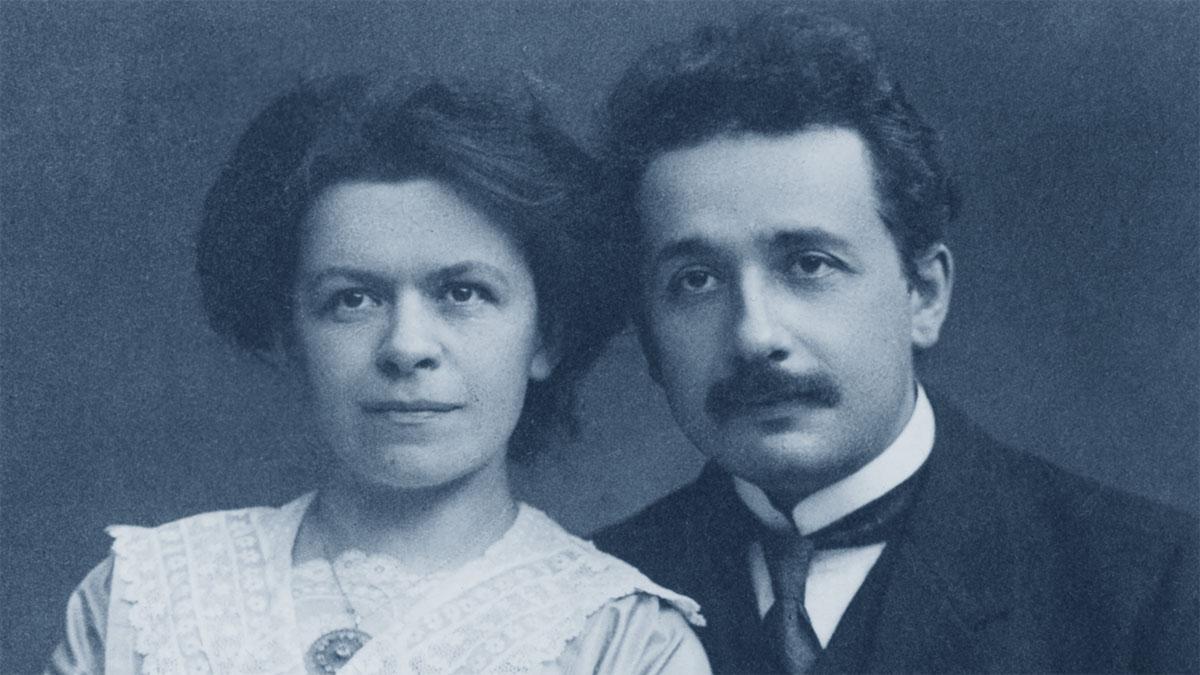 Mileva Maric con Albert Einstein