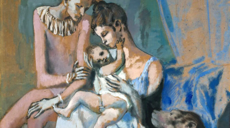 Acrobat Family, Famiglia di acrobati con scimmia, Picasso