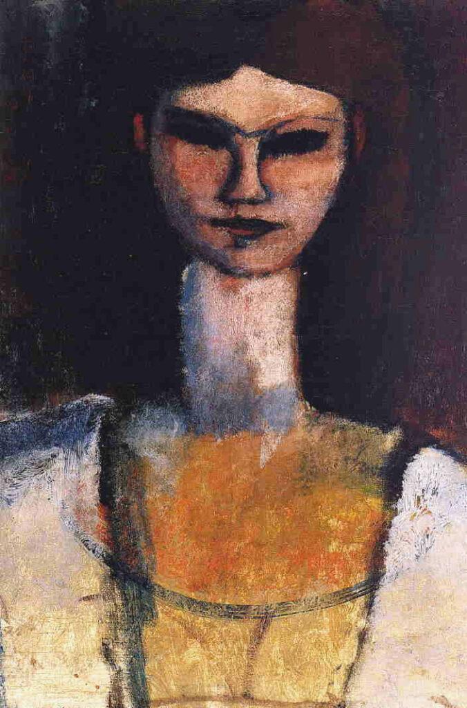 Busto di giovane donna, opera di Modigliani del 1911 Bust of a Young Woman