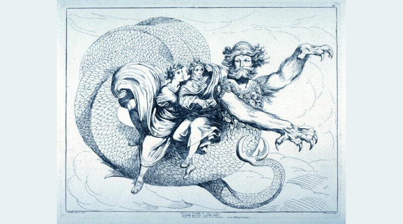 Gerione con Dante e Virgilio