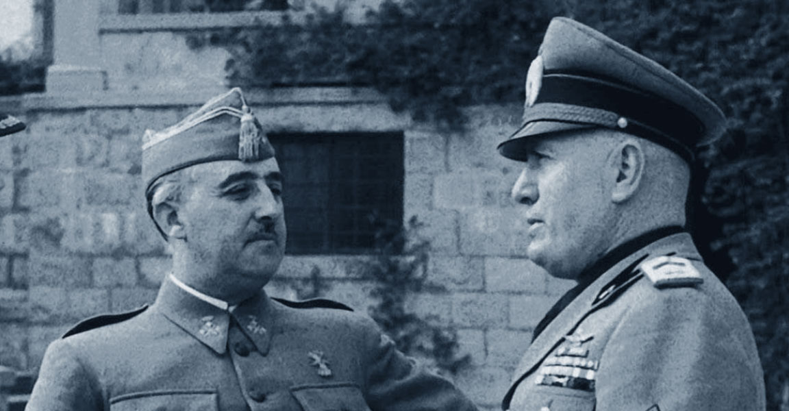 Francisco Franco con Benito Mussolini