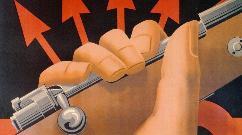 Guerra civile spagnola: dettaglio di un manifesto di propaganda