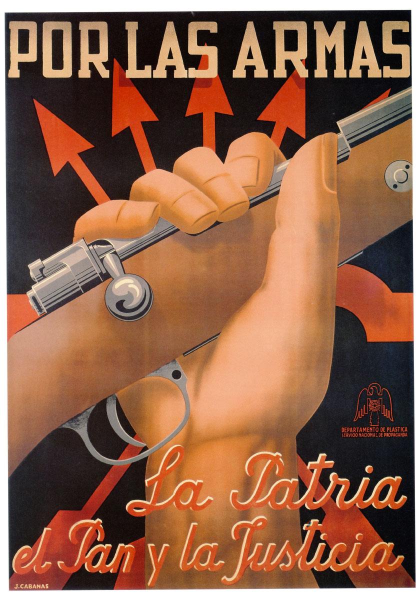 Guerra civile spagnola: manifesto di propaganda