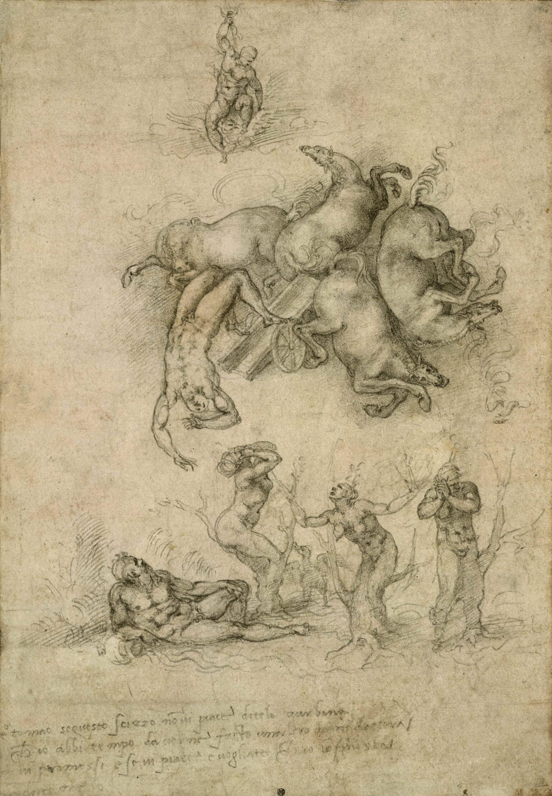Fetonte: mito e leggenda, disegno di Michelangelo