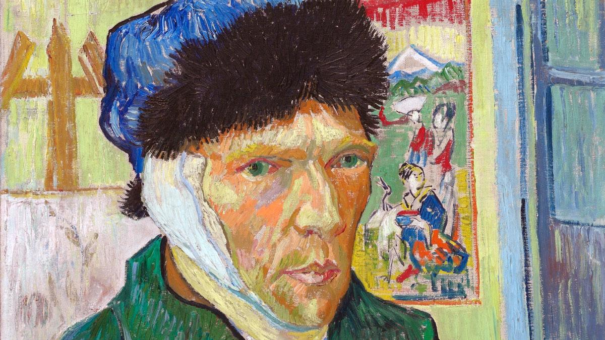 Van Gogh - Orecchio Bendato - dettaglio dell'autoritratto