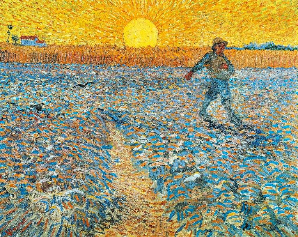 Seminatore al tramonto (Sower-at-Sunset), quadro di Vincent van Gogh del 1888
