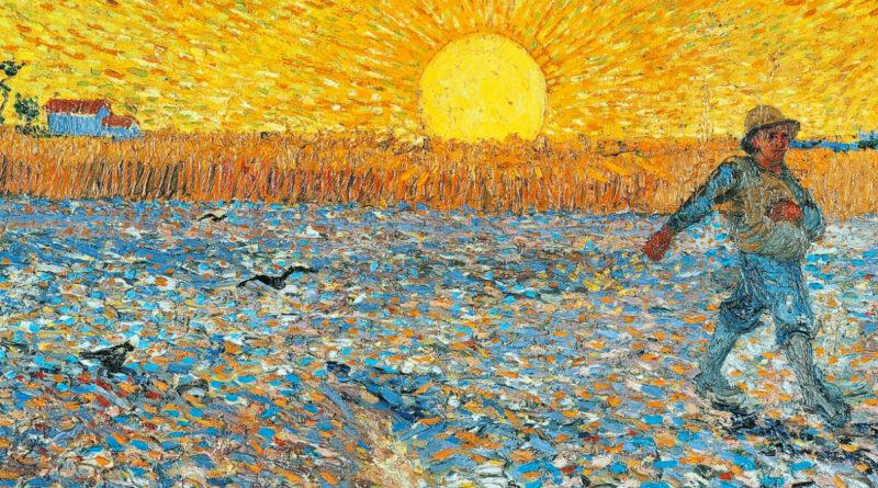 Van Gogh - Sower at Sunset - detail