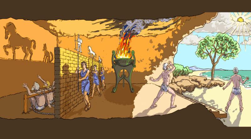 Illustrazione sul mito della caverna